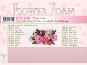 25.4209 Leane Flower Foam A4 0,8mm, Pale Pink-0