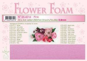 25.4216 Leane Flower Foam A4 0,8mm, Pink-0