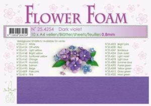25.4254 Leane Flower Foam A4 0,8mm, Dark Violet-0