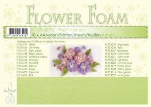 25.4292 Leane Flower Foam A4 0,8mm, Pastel Green-0