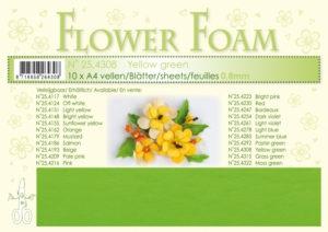 25.4308 Leane Flower Foam A4 0,8mm, Yellow Green-0