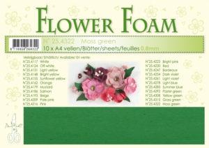 25.4322 Leane Flower Foam A4 0,8mm, Mos Green-0