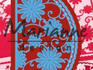 LR0517 Marianne Design Die Cut/emb Creatables, Anja's flower demi circle-0
