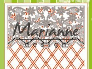 DF3444 Marianne Design, Emb.folder & die, Anja's Ornamental Border-0