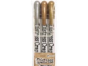 TDBK58700 Ranger Tim Holtz Distress Crayons metallics, 3 stk-0