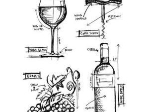 """CMS333 Stampers Anonymous Tim Holtz """"Wine Blueprint""""-0"""