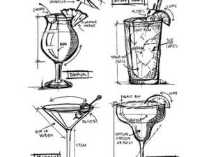 """CMS335 Stampers Anonymous Tim Holtz """"Cocktails Blueprint"""" -0"""