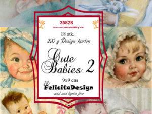 35828 Felicita Design Toppers 9 x 9 cm, Cute Babies 2-0