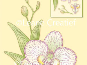 "55.4711 Leane Creatief stempel/clearstamp ""Orchid/Orchidee 3D"" -0"
