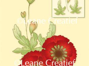 """55.4728 Leane Creatief stempel/clearstamp """"Poppy / Klaproos 3D"""" -0"""