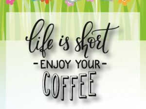 "6410/0476 JOY Clearstamp, ""Coffee txt – Enjoy""-0"