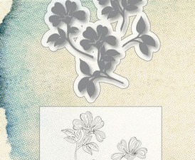 "6004/0024 JOY Die CUT/STAMP ""Buttercup""-0"