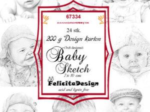 67334 Felicita Design Toppers 7 x 10 cm, Baby Sketch-0