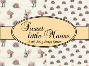 69502-1 Felicita Design papir ark, Sweet Little Mouse-0