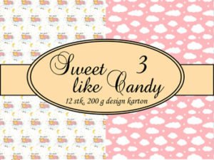 69503-1 Felicita Design papir ark, Sweet Like Candy 3-0