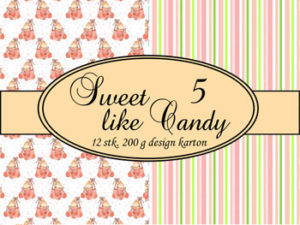 69505-1 Felicita Design papir ark, Sweet Like Candy 5-0
