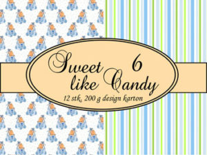 69506-1 Felicita Design papir ark, Sweet Like Candy 6-0