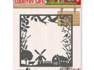 YCD10123 Yvonne Design Die Country Life, bondegårds ramme-0