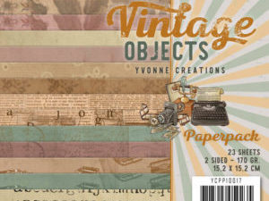 YCPP10017 Yvonne Design Papirblok Vintage Objects-0