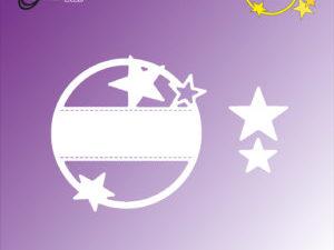 "BLD1067 By Lene Die Cut/emb, ""Star Frame""-0"