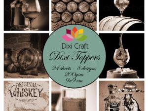 ET0330 Dixi Craft Toppers, Whisky i sort/hvid-0