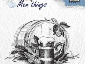 CSMT010 Nellie Snellen Clearstamps - Men Things - Beer-Time-0