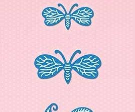 SDB039 Nellie Snellen Die Shape Die Blue - Butterflies-0
