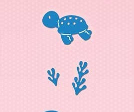 SDB043 Nellie Snellen Die Shape Die Blue - Turtle-0