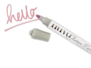 185N Nuvo, Glitter Marker – Strawberry Bonbon-0