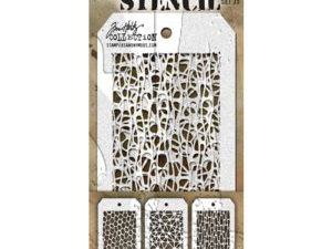 THMST035 Tim Holtz Stampers Anonymous Stencil Mini Stencil Set #35-0