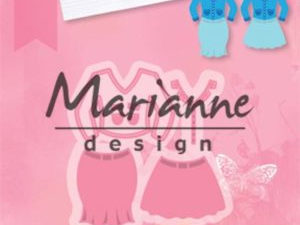 COL1453 Marianne Design Die Collectables, Lady's suit -0
