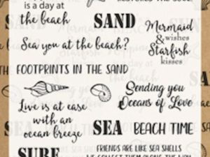 CS1007 Marianne Design Clearstamps, Beach Sentiments-0