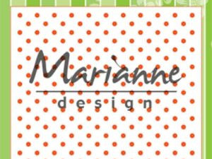 DF3447 Marianne Design, Emb.folder, Polka Dots-0