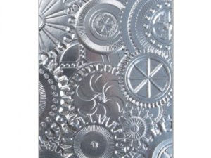 662715 Sizzix Tim Holtz Alterations 3D Embossing Folders, Mechanics-0