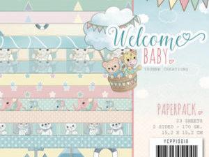 YCPP10018 Yvonne Design Papirblok Welcome baby-0