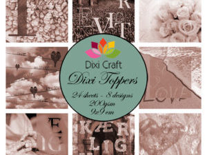 ETL002 Dixi Craft Toppers, Love (Sepia)-0