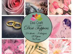 ETL003 Dixi Craft Toppers, Bryllup (farver)-0