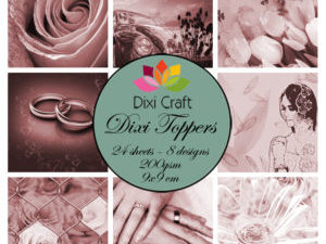 ETL004 Dixi Craft Toppers, Bryllup (Sepia)-0