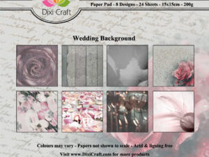PPL001 Dixi Craft Papirspakning, Wedding Background, farver-0