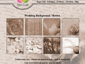 PPL002 Dixi Craft Papirspakning, Wedding Background, Brown-0