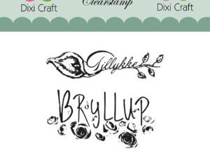 STAMPL002 Dixi Craft Clearstamp, Bryllups tekster-0