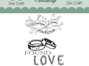 STAMPL003 Dixi Craft Clearstamp, Bryllups tekster-0