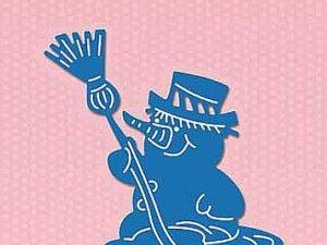 SDB053 Nellie Snellen Die Shape Die Blue - Snowman-0