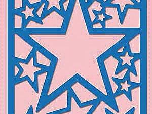 SDB054 Nellie Snellen Die Shape Die Blue - Star Frame-0