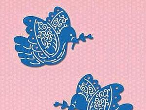 SDB057 Nellie Snellen Die Shape Die Blue - 2 Doves-0