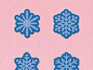 SDB059 Nellie Snellen Die Shape Die Blue - Snowflakes-0