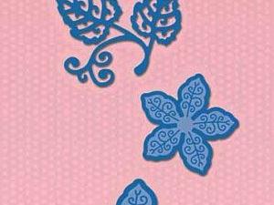 SDB060 Nellie Snellen Die Shape Die Blue - Christmas Flower-0