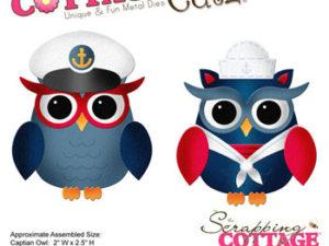 CC-109 Cottage Cutz Die Captain & Sailor Owls-0
