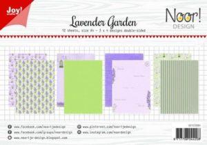 6011/0591 JOY Papirsblok A4 Lavender Garden-0