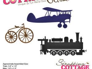 CC-479 Cottage Cutz Die Train, Bike & Plane-0
